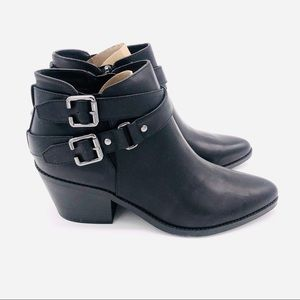 ♥️ NWT! GUESS BLACK LEATHER BOOTIES